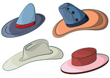 Sombreros ilustración del vector