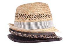 Sombreros aislados Foto de archivo libre de regalías