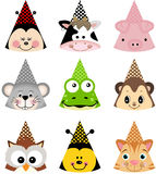 Sombreros animales del partido Imagenes de archivo