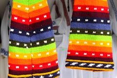 Sombreros coloreados de las lanas Fotografía de archivo