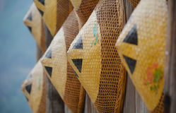 Sombreros de bambú Fotografía de archivo