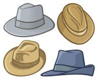 Sombreros de Fedora Fotografía de archivo libre de regalías