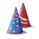 Sombreros de imagen para el cumpleaños Imágenes de archivo libres de regalías