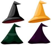 Sombreros de la bruja stock de ilustración