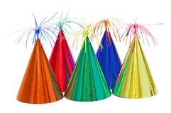 Sombreros de la fiesta de cumpleaños Fotografía de archivo