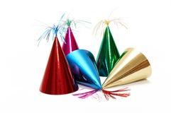 Sombreros de la fiesta de cumpleaños Imágenes de archivo libres de regalías