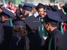 Sombreros de la graduación Imágenes de archivo libres de regalías