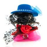 Sombreros de la hembra de la pila Fotografía de archivo libre de regalías