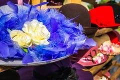 Sombreros de la hembra del vintage Imagen de archivo