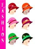 Sombreros de la manera Fotos de archivo