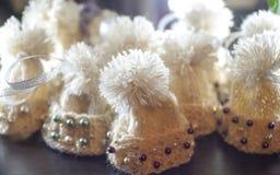 Sombreros de lana hechos punto Fotografía de archivo