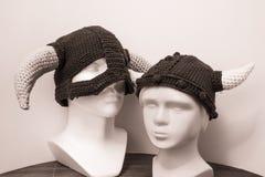 Sombreros de las lanas de Vikingos Fotos de archivo libres de regalías