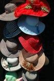 Sombreros de las mujeres Imágenes de archivo libres de regalías