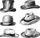 Sombreros de los hombres Imagen de archivo