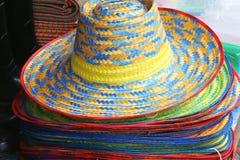 Sombreros de paja Foto de archivo libre de regalías
