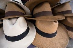 Sombreros de Panamá Foto de archivo libre de regalías