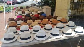 Sombreros de Panamá Foto de archivo