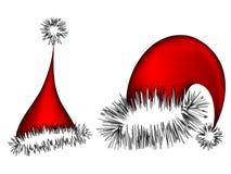 Sombreros de Papá Noel Fotos de archivo libres de regalías
