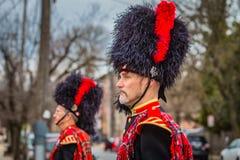 Sombreros del castor en el desfile irlandés fotografía de archivo