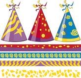Sombreros del cumpleaños Foto de archivo libre de regalías
