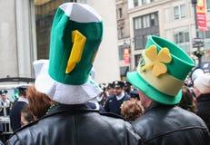 Sombreros del desfile del día de Patricks del santo Imágenes de archivo libres de regalías