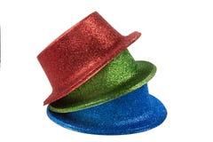 Sombreros del partido aislados en el fondo blanco Fotos de archivo