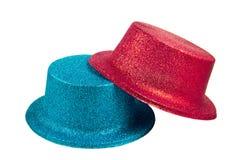 Sombreros del partido aislados en el fondo blanco Fotografía de archivo