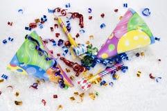 Sombreros del partido del multicolor Imagenes de archivo