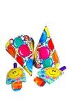 Sombreros del partido y fabricantes del ruido Imagen de archivo libre de regalías