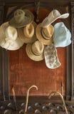 Sombreros del verano Fotos de archivo libres de regalías