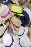 Sombreros del verano para la venta Imagen de archivo libre de regalías