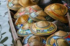 Sombreros en la barca Imágenes de archivo libres de regalías