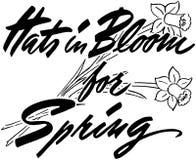 Sombreros en la floración para la primavera Fotografía de archivo libre de regalías