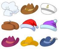 Sombreros fijados stock de ilustración