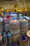 Sombreros mexicains dans la boutique de cadeaux Photographie stock libre de droits