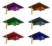 Sombreros o casquillos graduados Fotografía de archivo