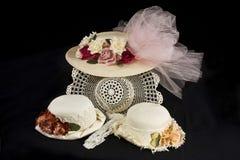 Sombreros pasados de moda imágenes de archivo libres de regalías