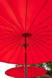 Sombrilla roja Fotos de archivo