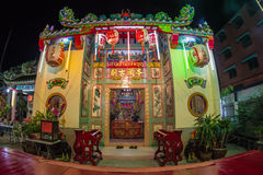 Sombun God Shrine. Chinese Shrine at  Donmuang near Donmuang Airport.Newyear Festival  Nightmarket  Show Chinese Opera On stage  in Stock Images