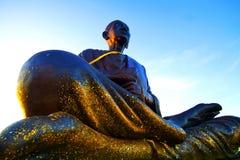 Somdajto stora Buddah i Thailand Arkivfoton