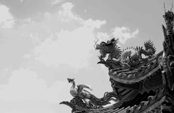 Somdej Phrachao Taksin Maharat寺庙,庄他武里 免版税库存图片