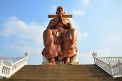 Somdej Toh statuy lokacja przy Wat larwy świątynią Zdjęcie Royalty Free