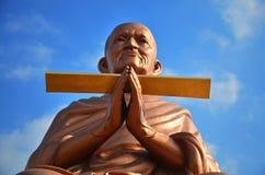 Somdej Toh statuy lokacja przy Wat larwy świątynią Fotografia Royalty Free