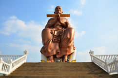 Somdej Toh Wat马胃蝇蛆寺庙的雕象地点 免版税库存照片