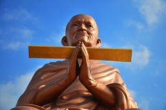 Somdej Toh Wat马胃蝇蛆寺庙的雕象地点 免版税图库摄影