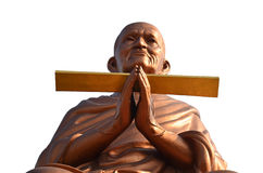 Somdej Toh Wat马胃蝇蛆寺庙的雕象地点 免版税库存图片