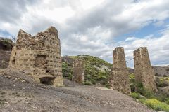 Calcining kilns. Are some abandoned calcining kilns used for mining Royalty Free Stock Photo