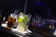 Some alcoholic cocktails Stock Photo
