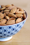 Some almonds. On a small Japanese bowl Stock Photography