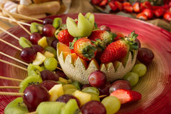 Fresh fruits. Some appetizers on a plate. Different fruits Royalty Free Stock Photos